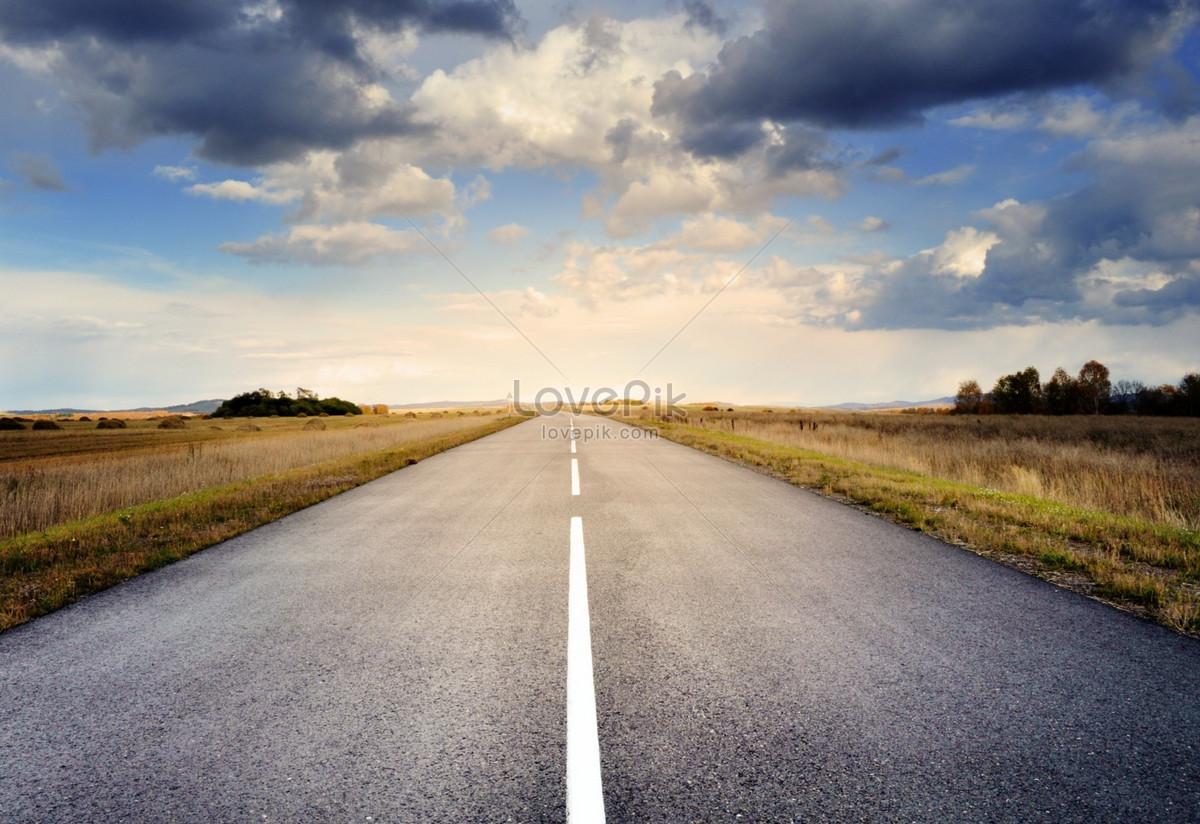 笔直的沥青公路图片素材编号235337_高清图片免费下载