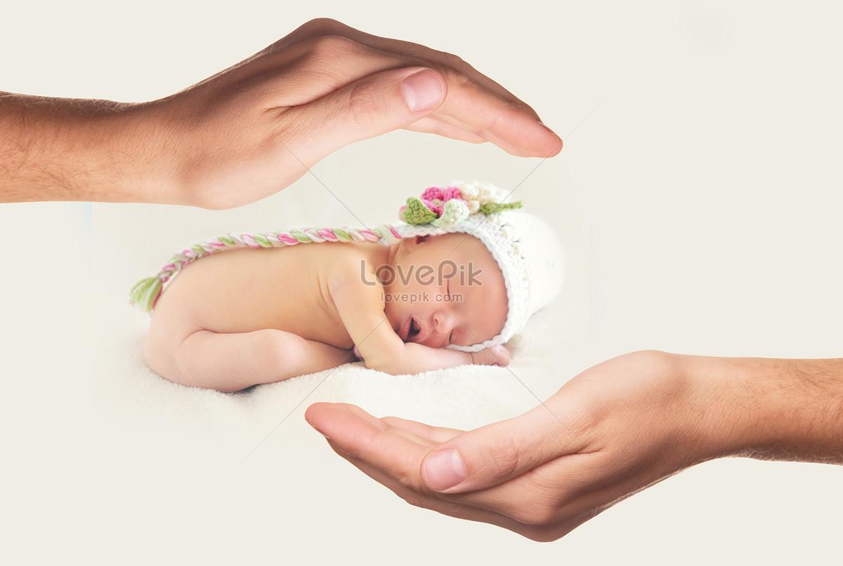 被双手呵护的婴儿宝宝图片素材编号503230_高清图片