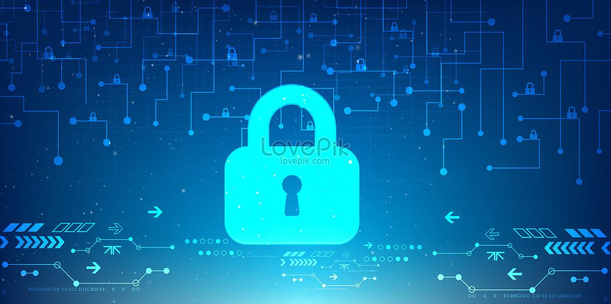 科技安全信息技术线条背景图片素材编号400057116_prf