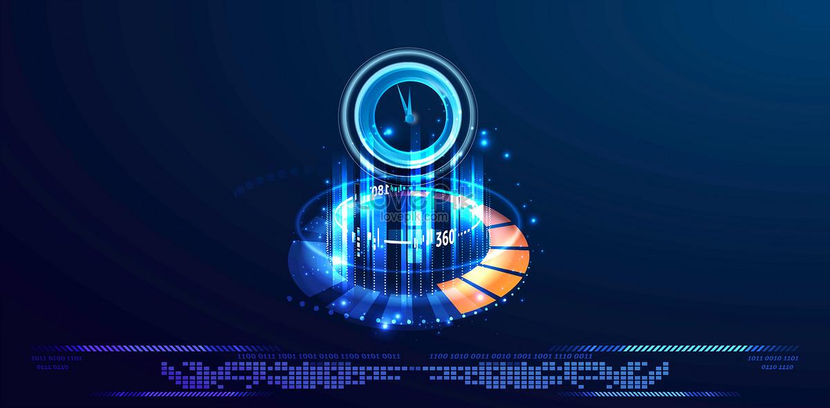 科技创意信息技术线条蓝色背景图片素材编号400058968