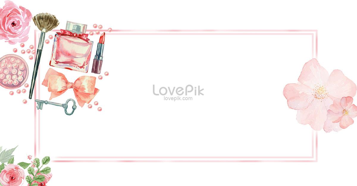 唯美清新美容化妆品广告背景图片素材编号400126421