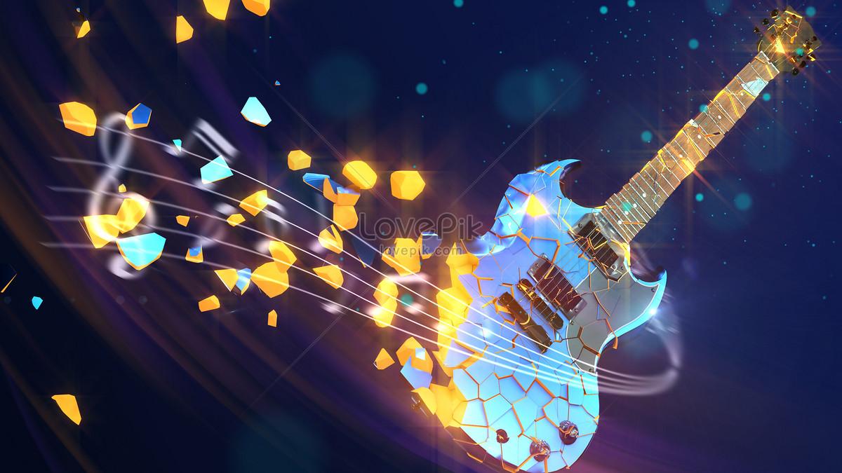 炫酷吉他音乐背景图片素材编号400229847_prf高清图片