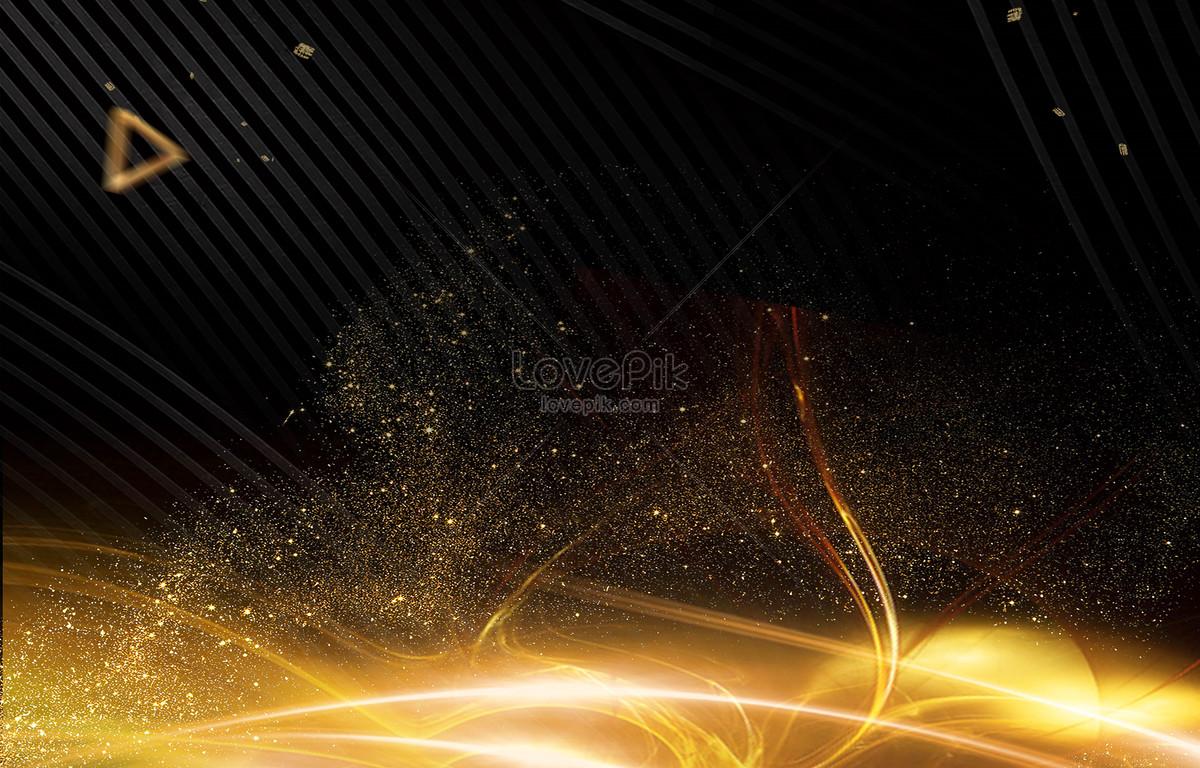 高质量黑金海报素材元素背景