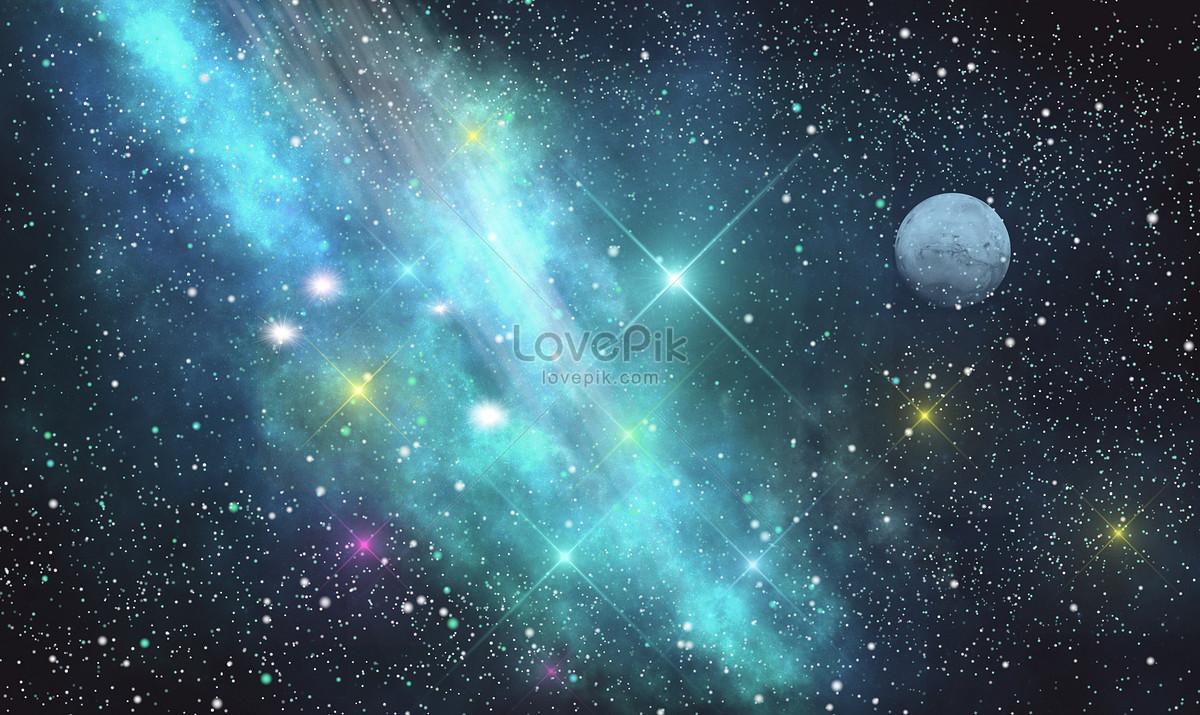 星空月亮唯美背景图片素材编号400297328_prf高清图片