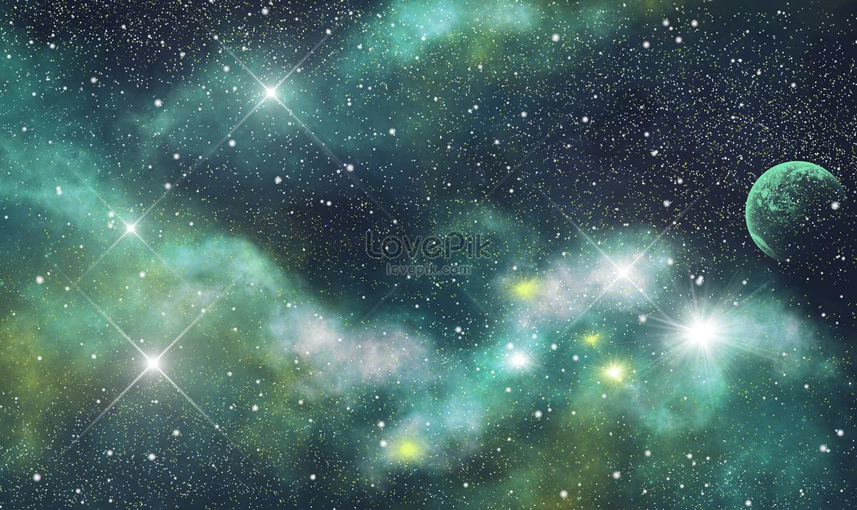星空月亮唯美背景图片素材编号400297329_prf高清图片