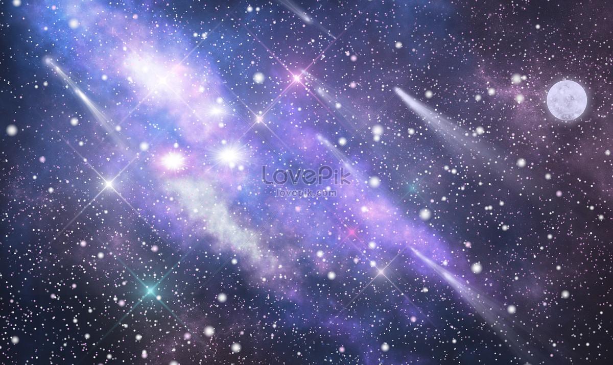 星空月亮唯美背景图片素材编号400297495_prf高清图片