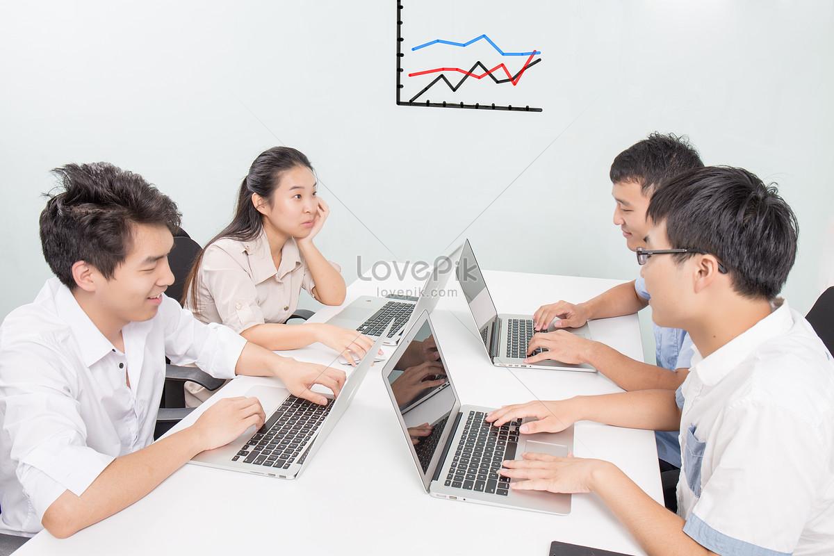 商务团队在办公室开会图片素材编号500113721_prf高清
