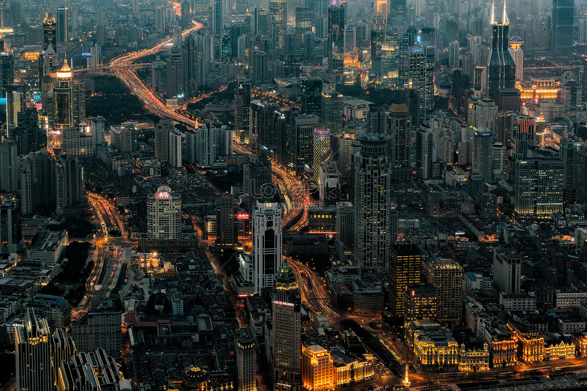 上海城市夜景俯拍图片素材编号500277145_prf高清图片