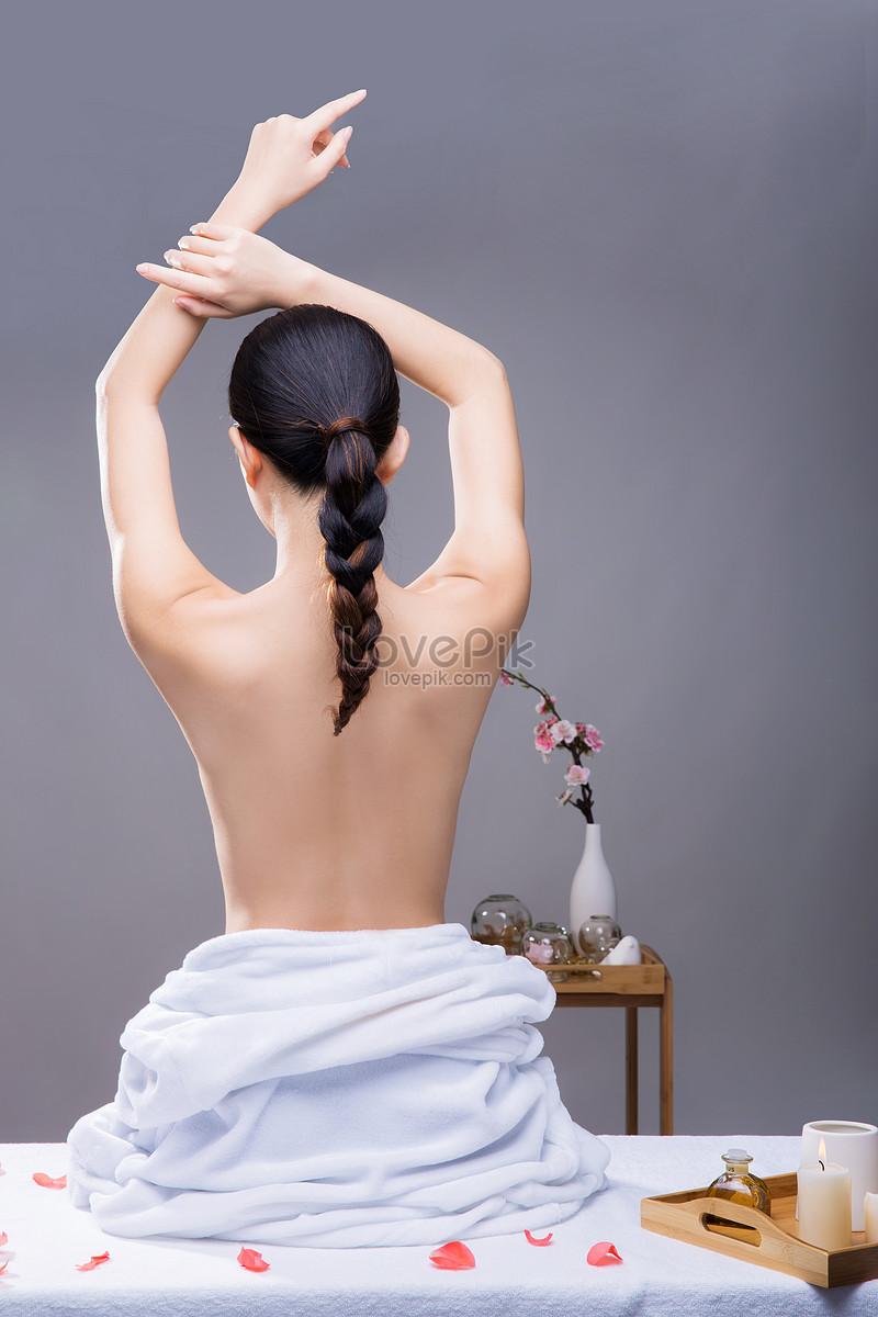 美容养生美女背部展示图片素材编号500353633_prf高清