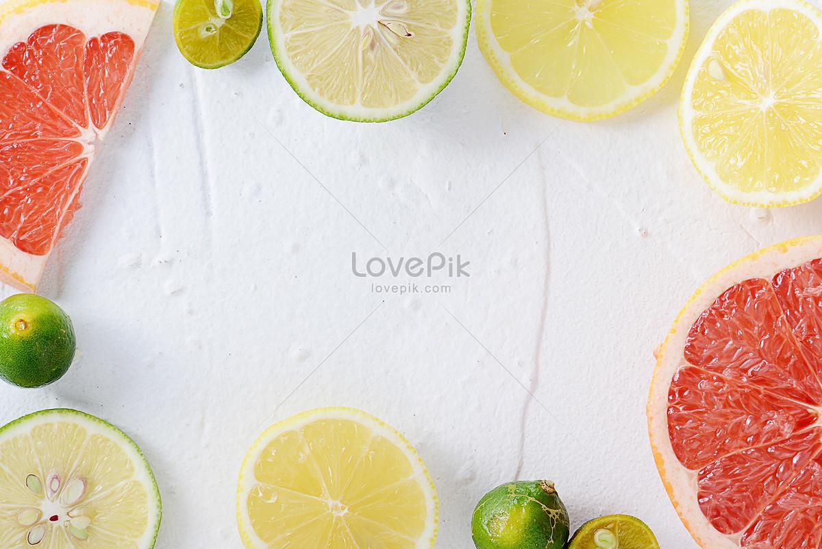 夏日白底柠檬清爽素材图片素材编号500477282_prf高清