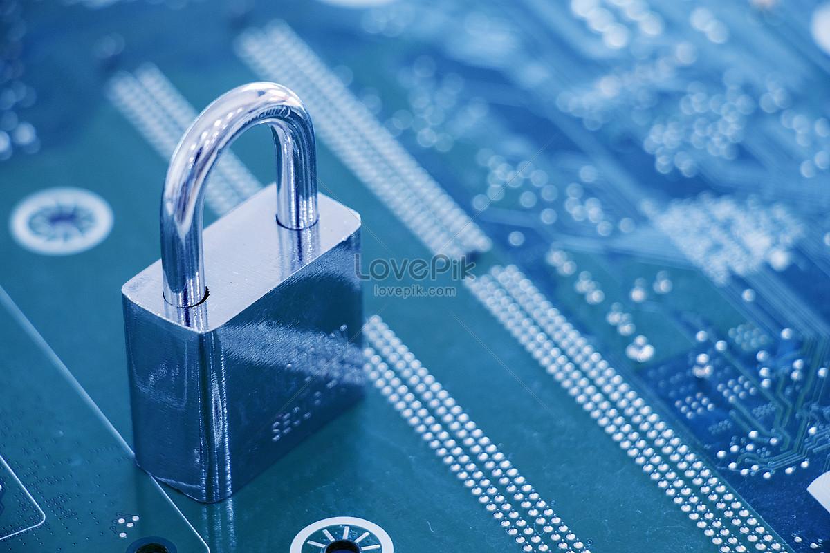 科技感芯片安全锁概念图图片素材编号500498009_prf
