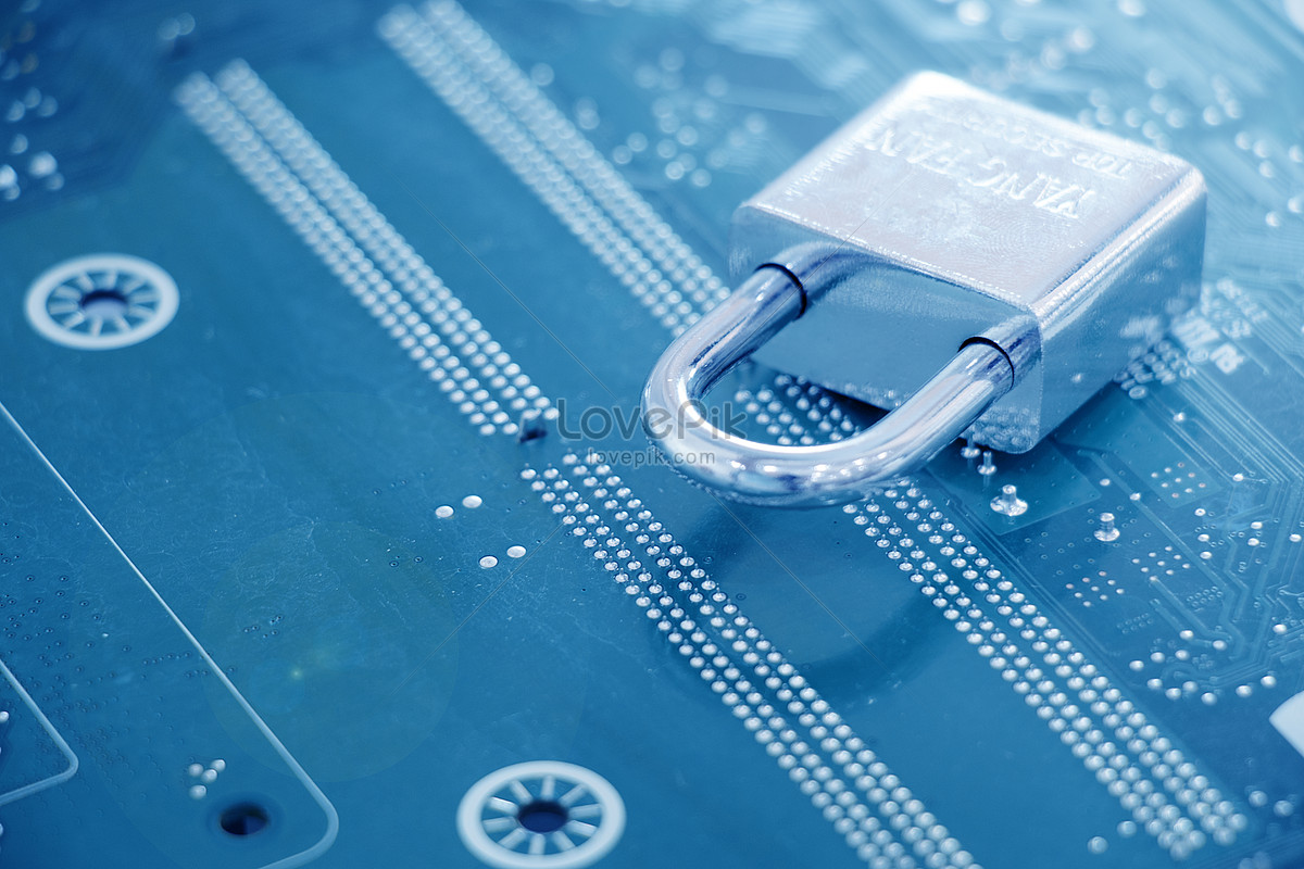 科技感芯片安全锁概念图图片素材编号500498010_prf