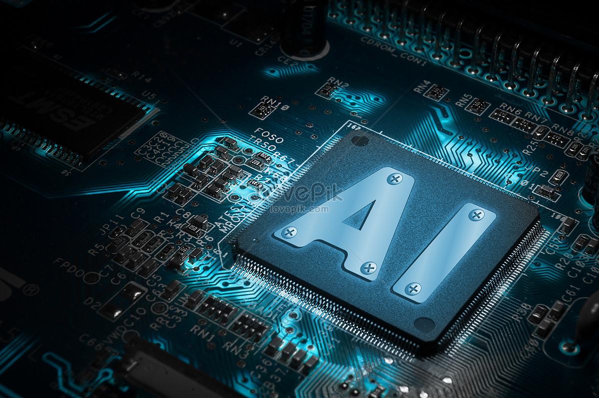 电脑芯片与人工智能图片素材编号500535578_prf高清