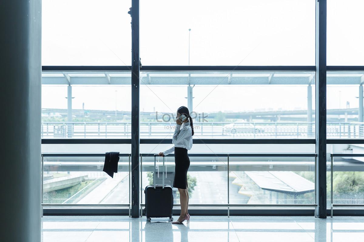 机场商务女士出差出行图片素材编号500597662_prf高清