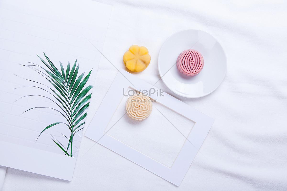 白布背景月饼图片素材编号500605431_prf高清图片免费