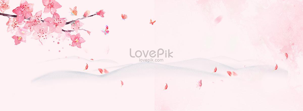 中国风桃花水墨粉色背景图片素材编号500632916_prf