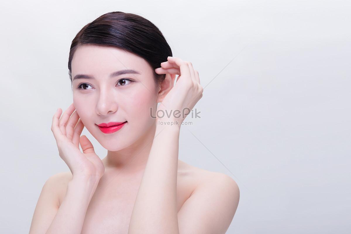 美容养生美女护肤动作图片素材编号500647277_prf高清