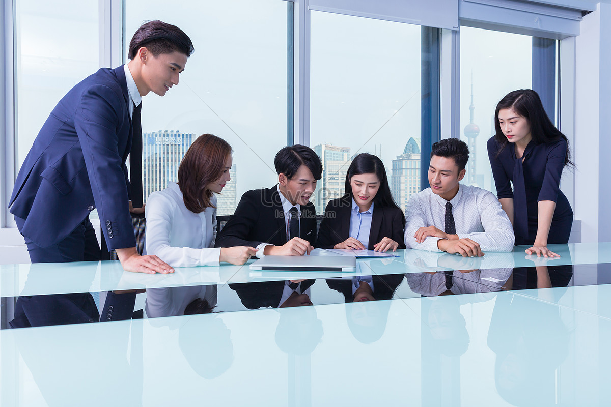 商务团队会议讨论图片素材编号500704810_prf高清图片