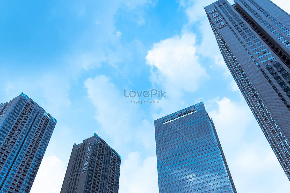 城市大楼天空背景图片素材编号500732088_prf高清图片
