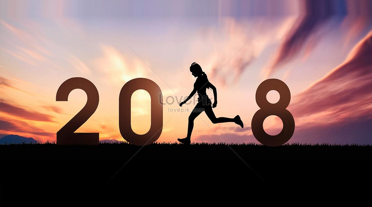 2018夕阳下的健身剪影图片素材编号500799041_prf高清
