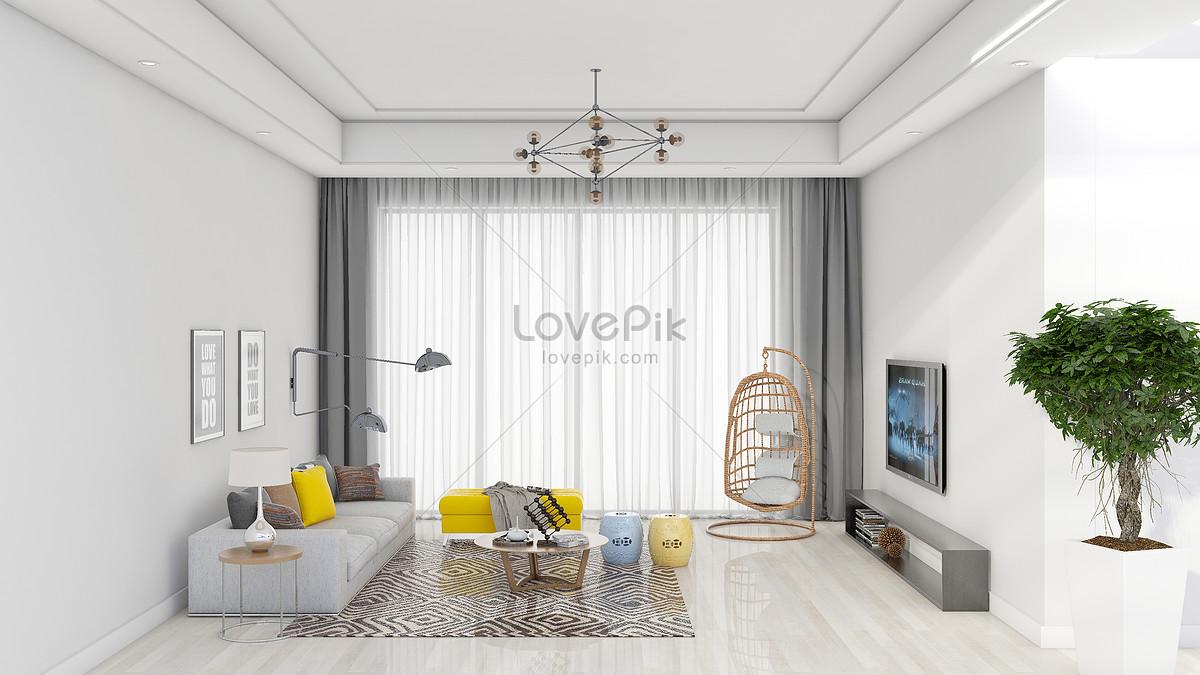 简约清新客厅室内家居背景图片素材编号500801618_prf