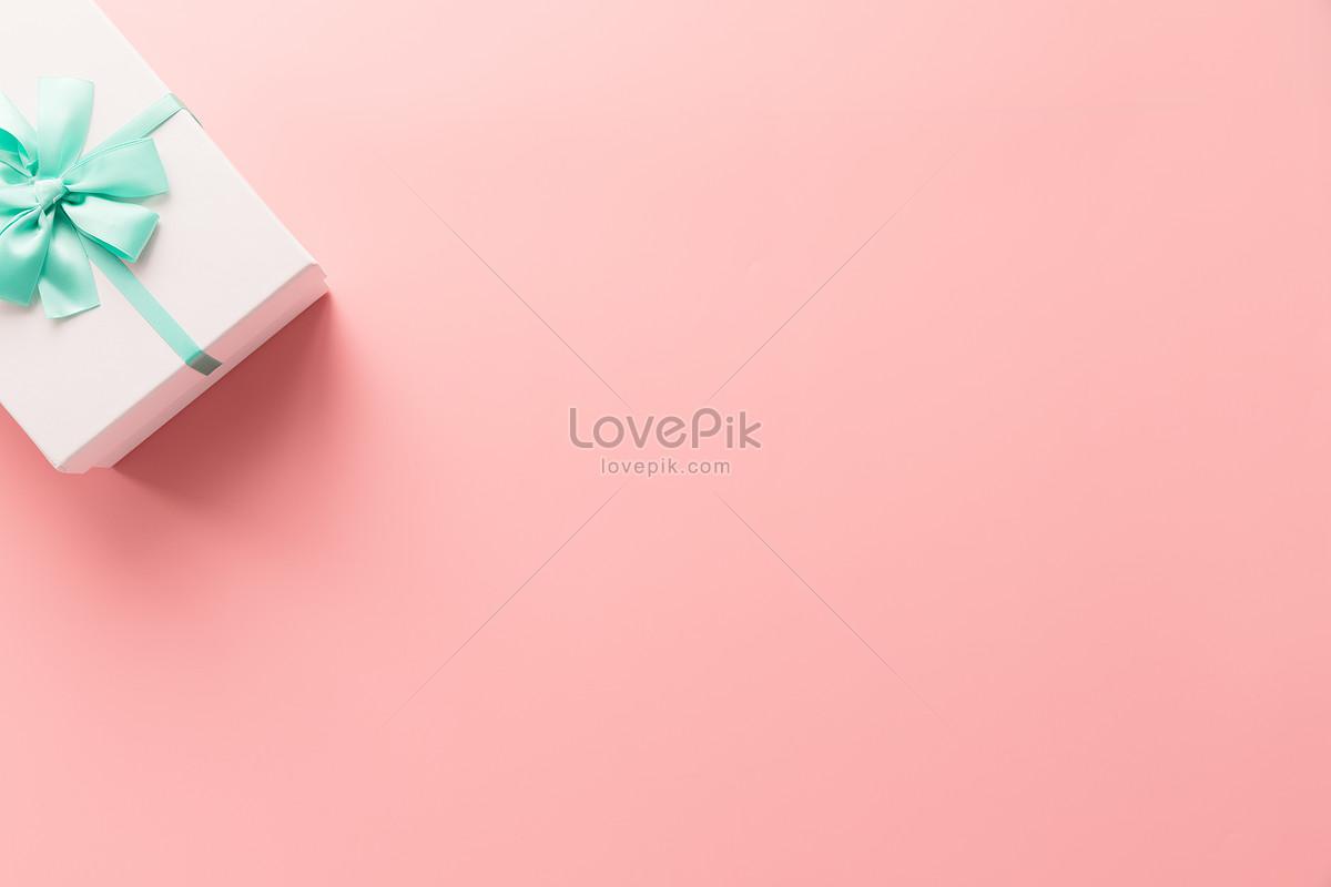粉色礼盒纯色留白背景图片素材编号500826851_prf高清