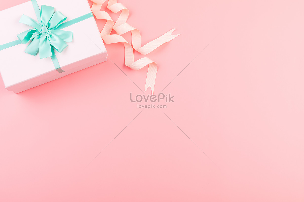 粉色礼物盒留白背景图片素材编号500826852_prf高清