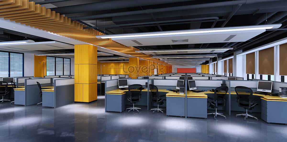 现代办公室大堂效果图图片素材编号501008105_prf高清