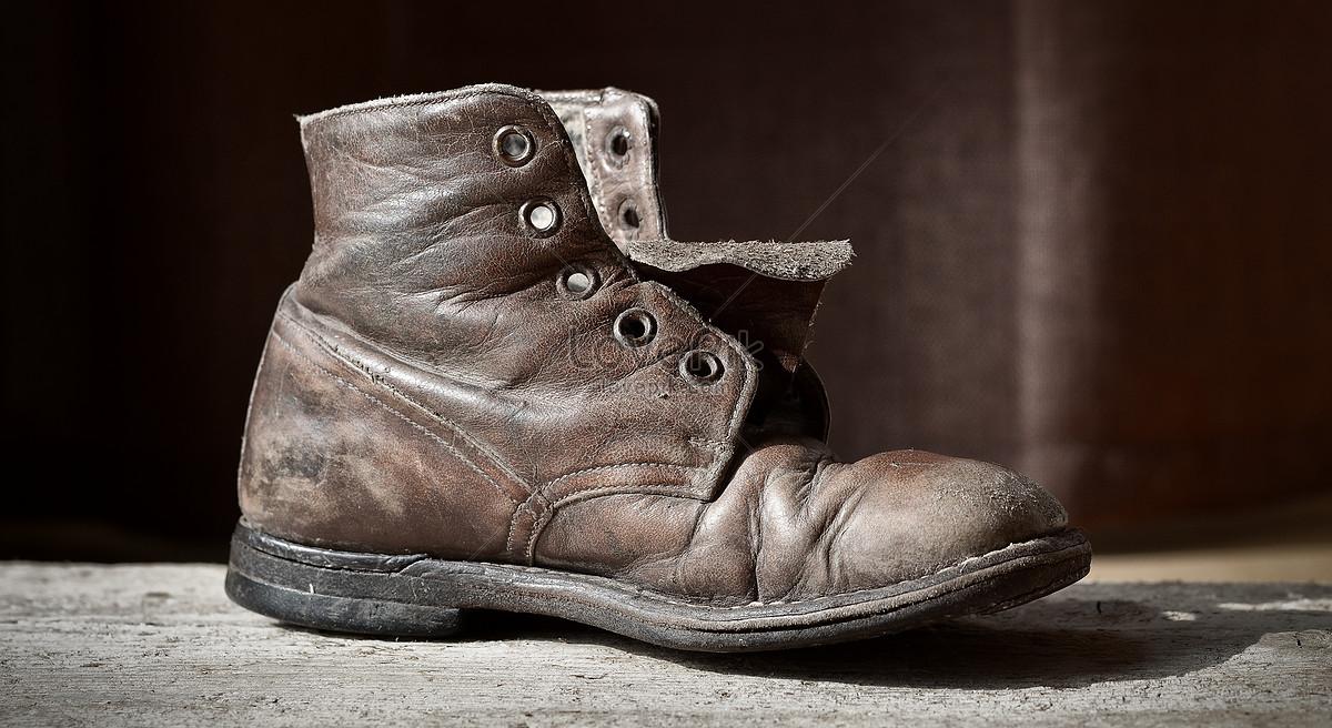 Imagen Cuero Zapato De 16448 DescargarFoto jpg Viejo Un 3q5LARj4