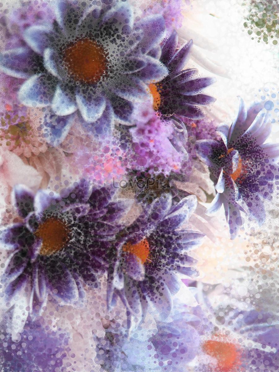 Beautiful Digital Art Flowers Photo Imagepicture Free Download