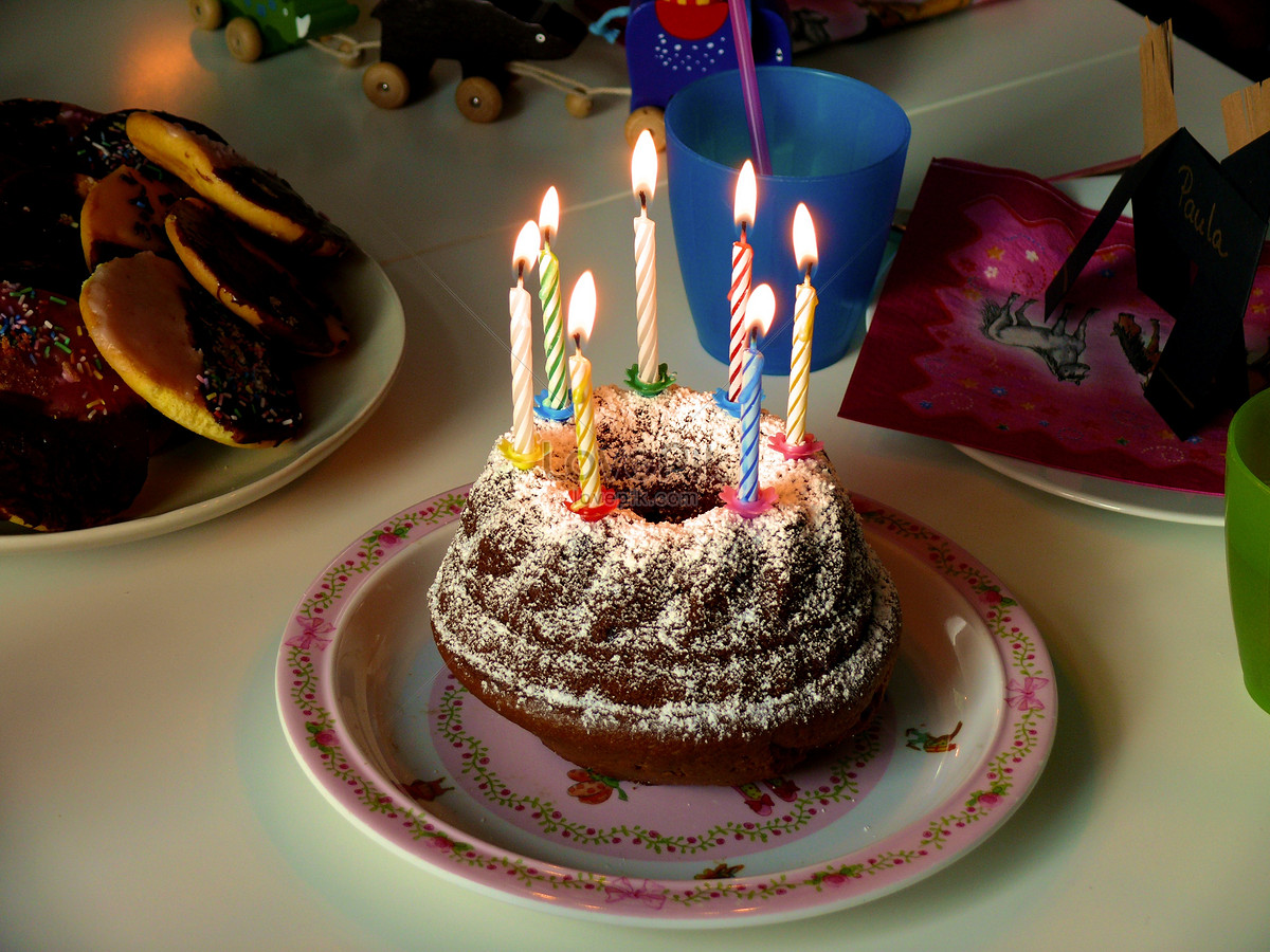 Dark Chocolate Birthday Cake