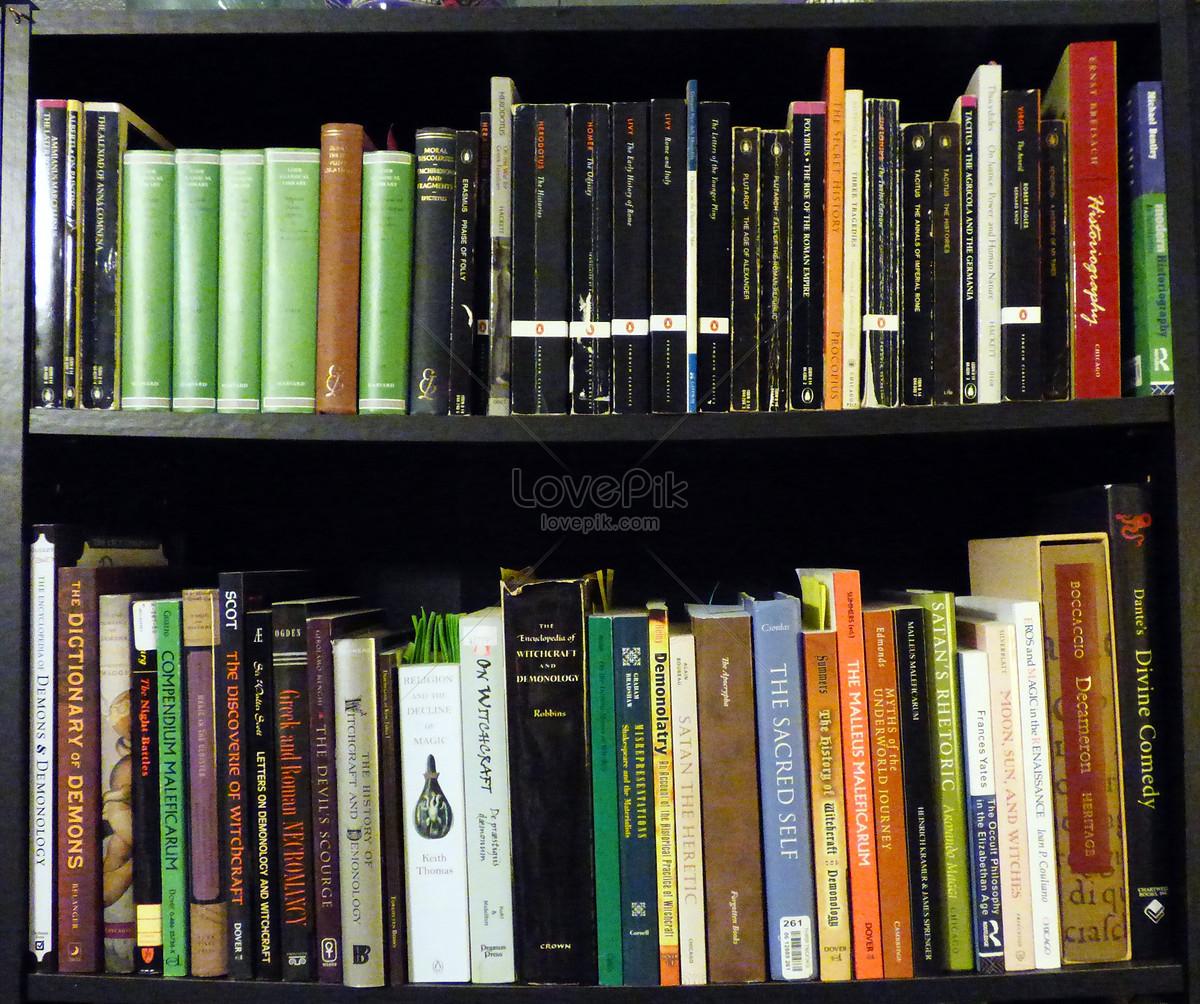 A Neat Book On Bookshelf