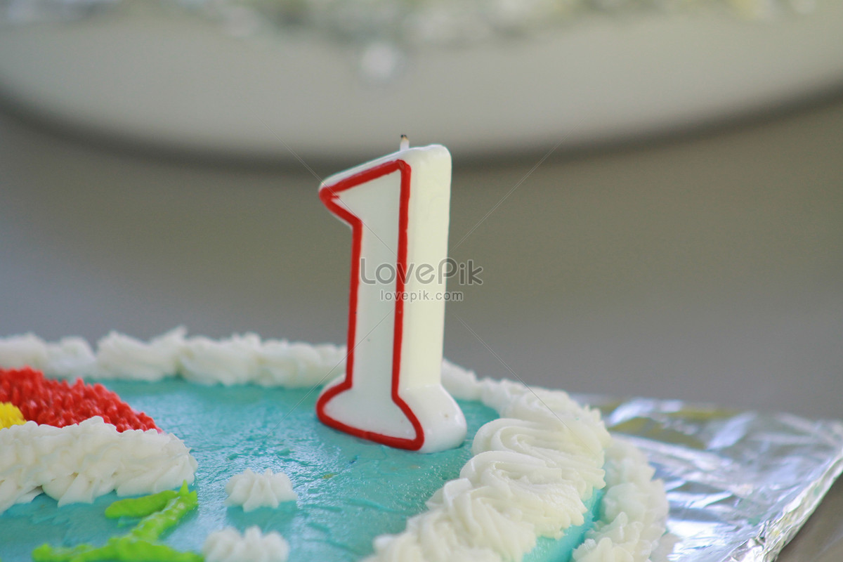 Birthday Cake For One Year Old Children Photo Imagepicture Free
