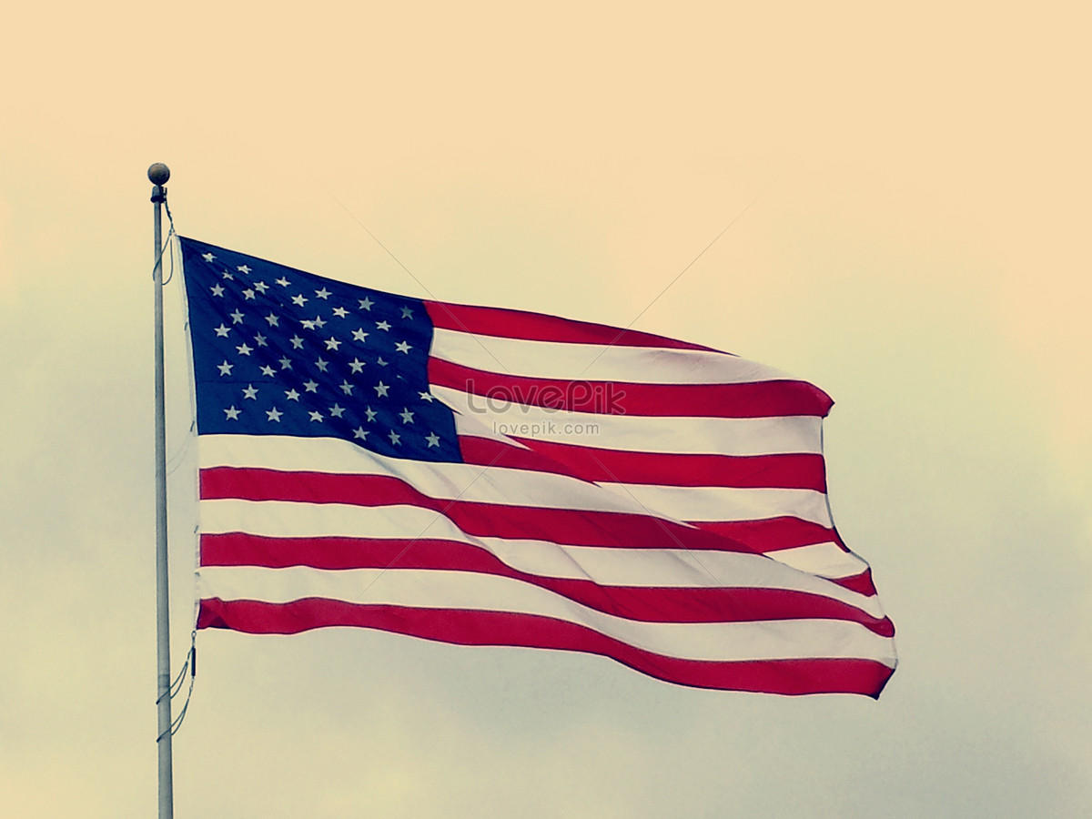a fluttering american flag photo image picture free download