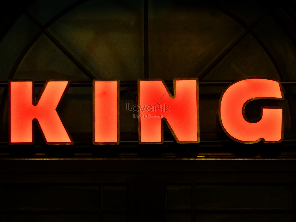 A flickering neon sign photo image_picture free download