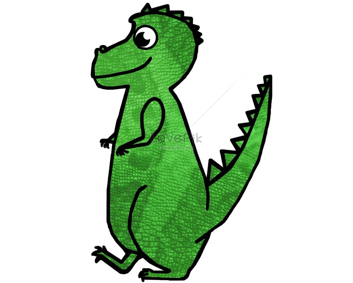 Dinosaurio De Dibujos Animados Lindo Imagen Descargar Foto