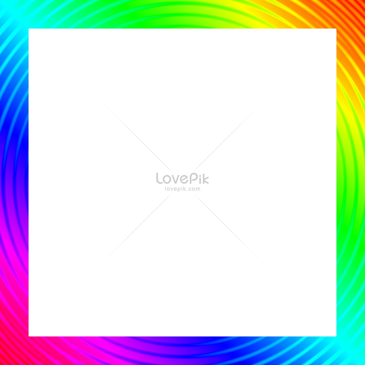 Rainbow color picture frame photo image_picture free download ...