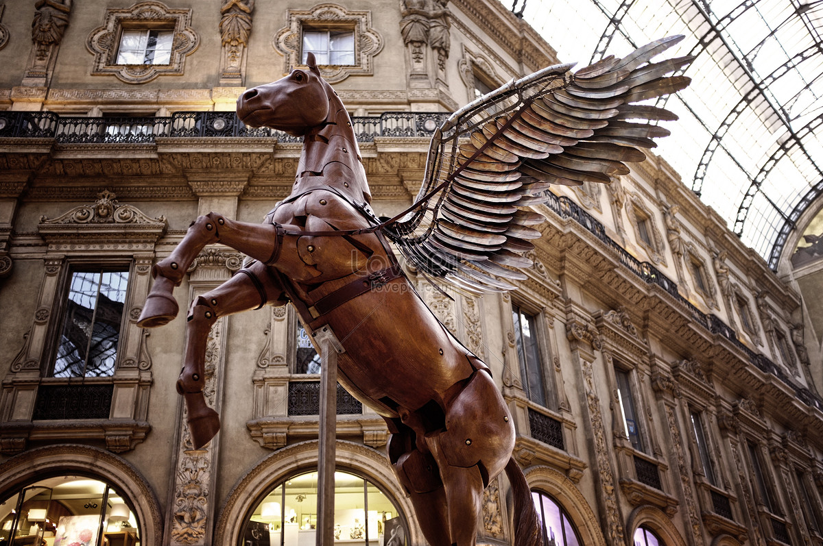 A Pentium Statue Of A Flying Horse Photo Image Picture Free Download