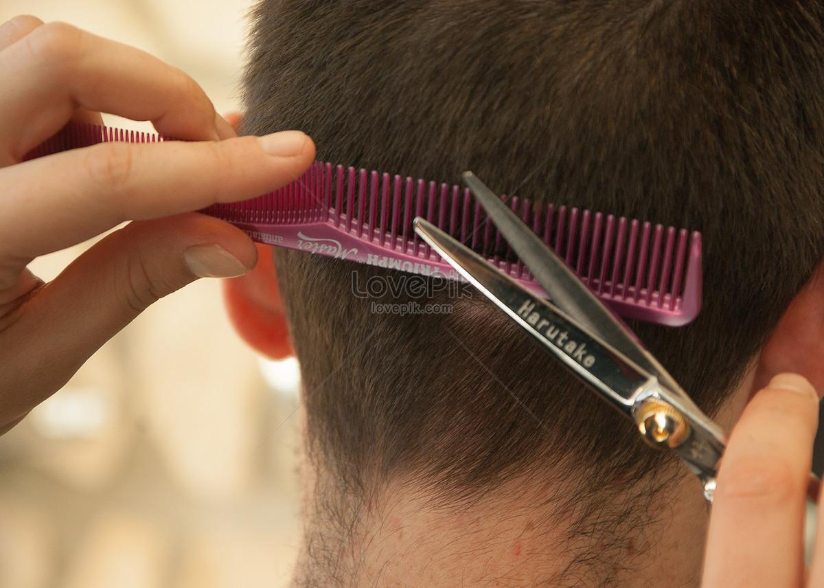 gunting rambut