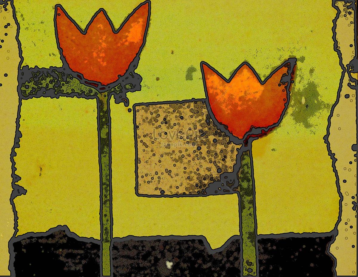 Pintura Mural De La Pared Flores Imagen Descargar Foto 506803 Jpg