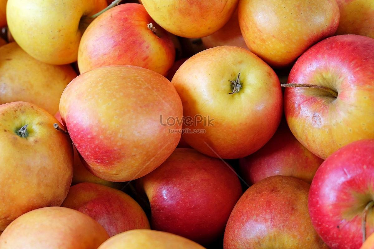 một chùm quả táo đỏ