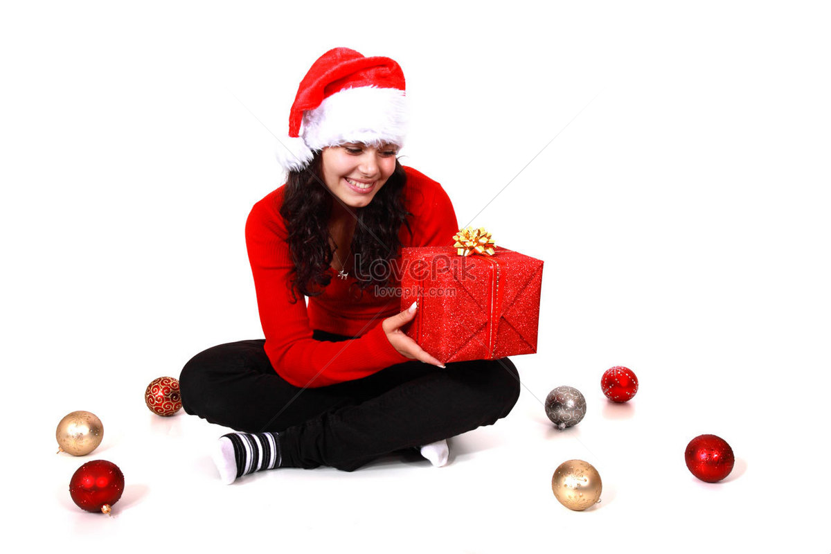 Young women and christmas gifts photo image_picture free download ...