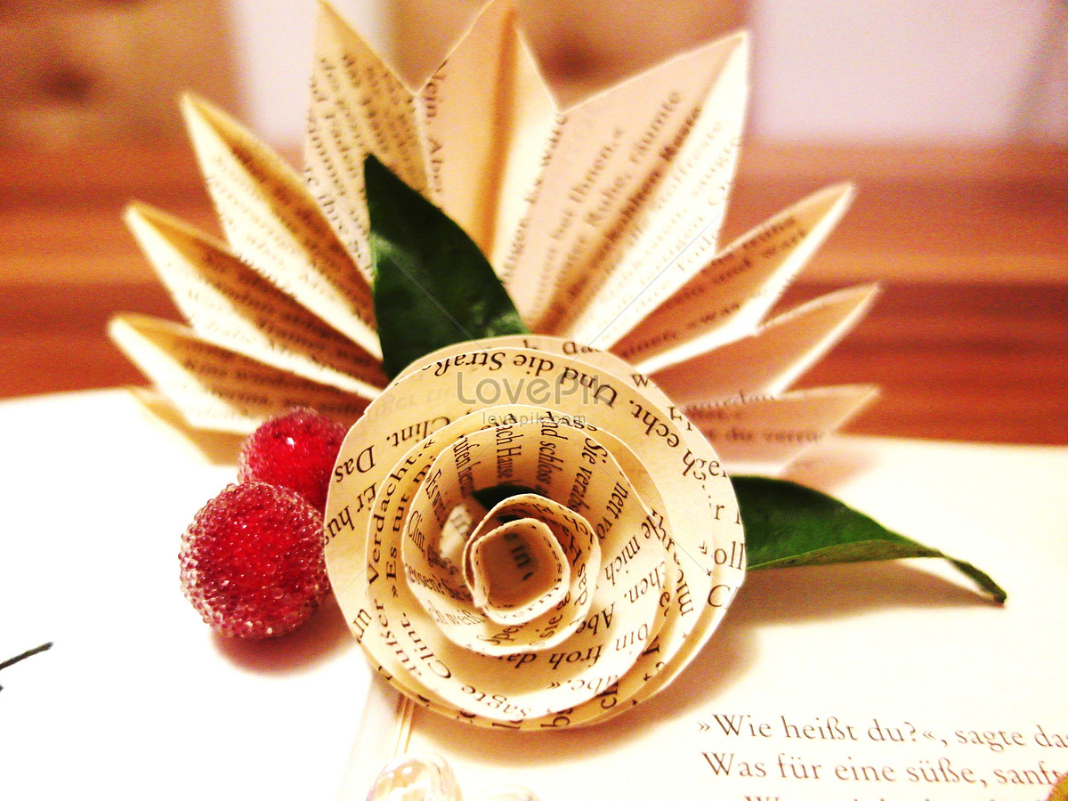 Paper Folded Flowers Photo Imagepicture Free Download