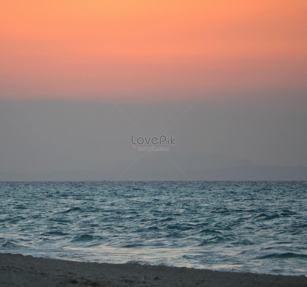 Pemandangan Laut Senja Gambar Unduh Gratisimej 100310828format
