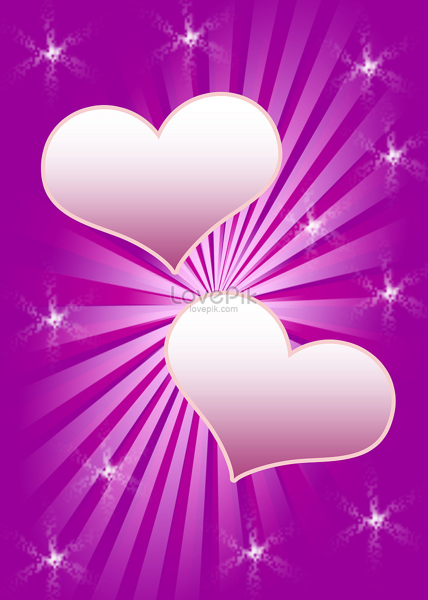 Purple Heart Medal Beautiful Valentines Day Frame Vectorgraph