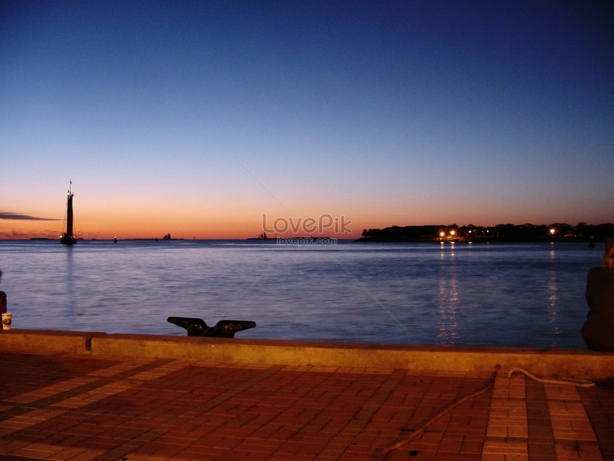 On christmas eve in florida, key west, take the sunset during th ...