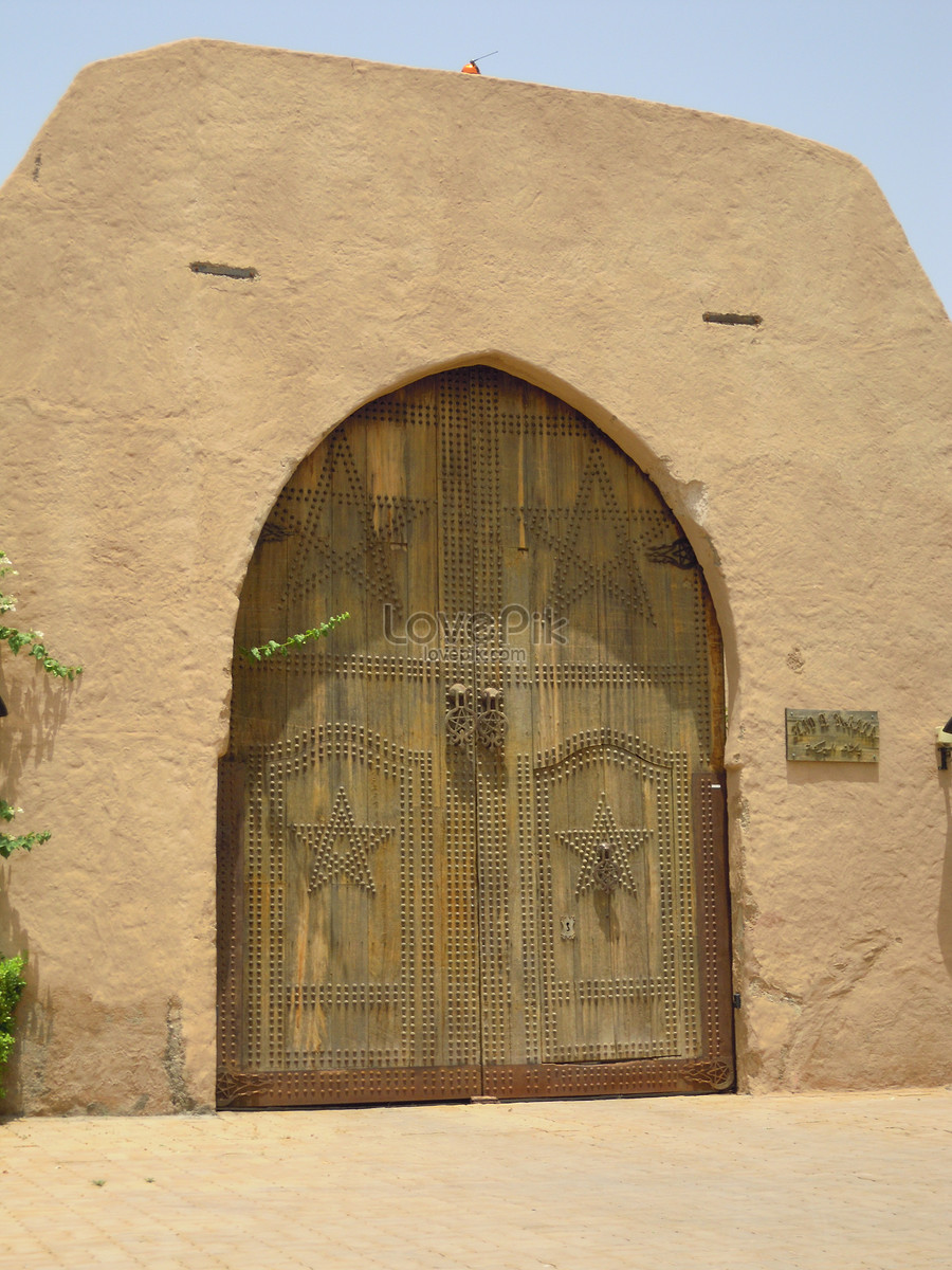 The door of morocco, which leads to the olive garden photo ...