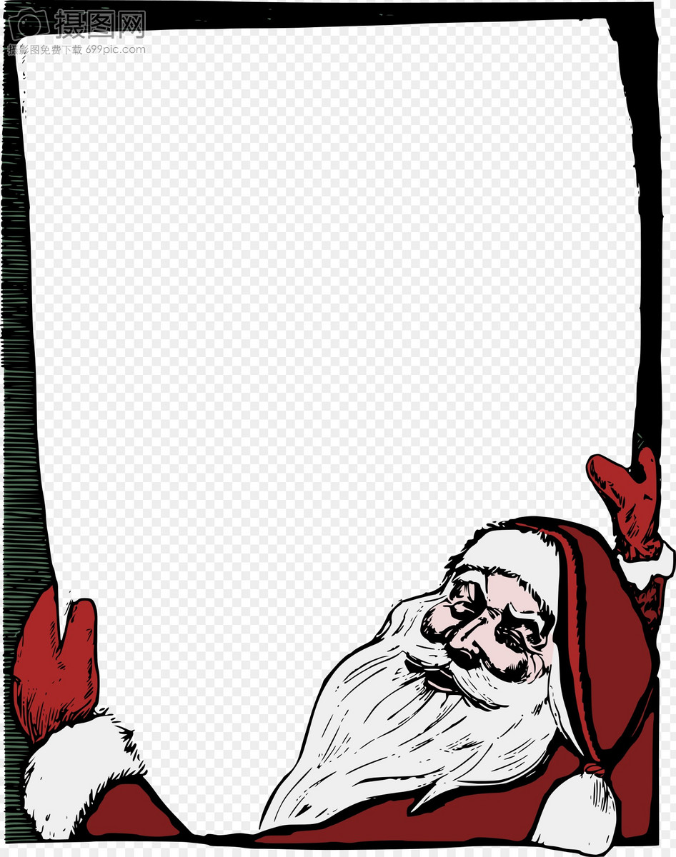 Santa claus template material graphics image_picture free download ...