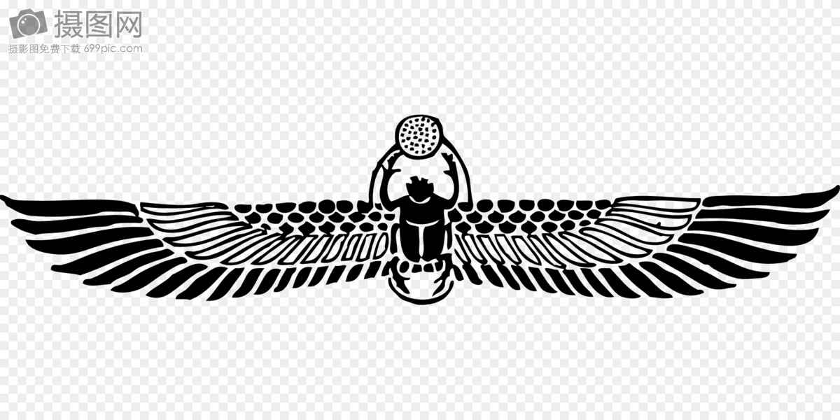 The Ancient Egyptian Symbol Winged Scarab Graphics Imagepicture