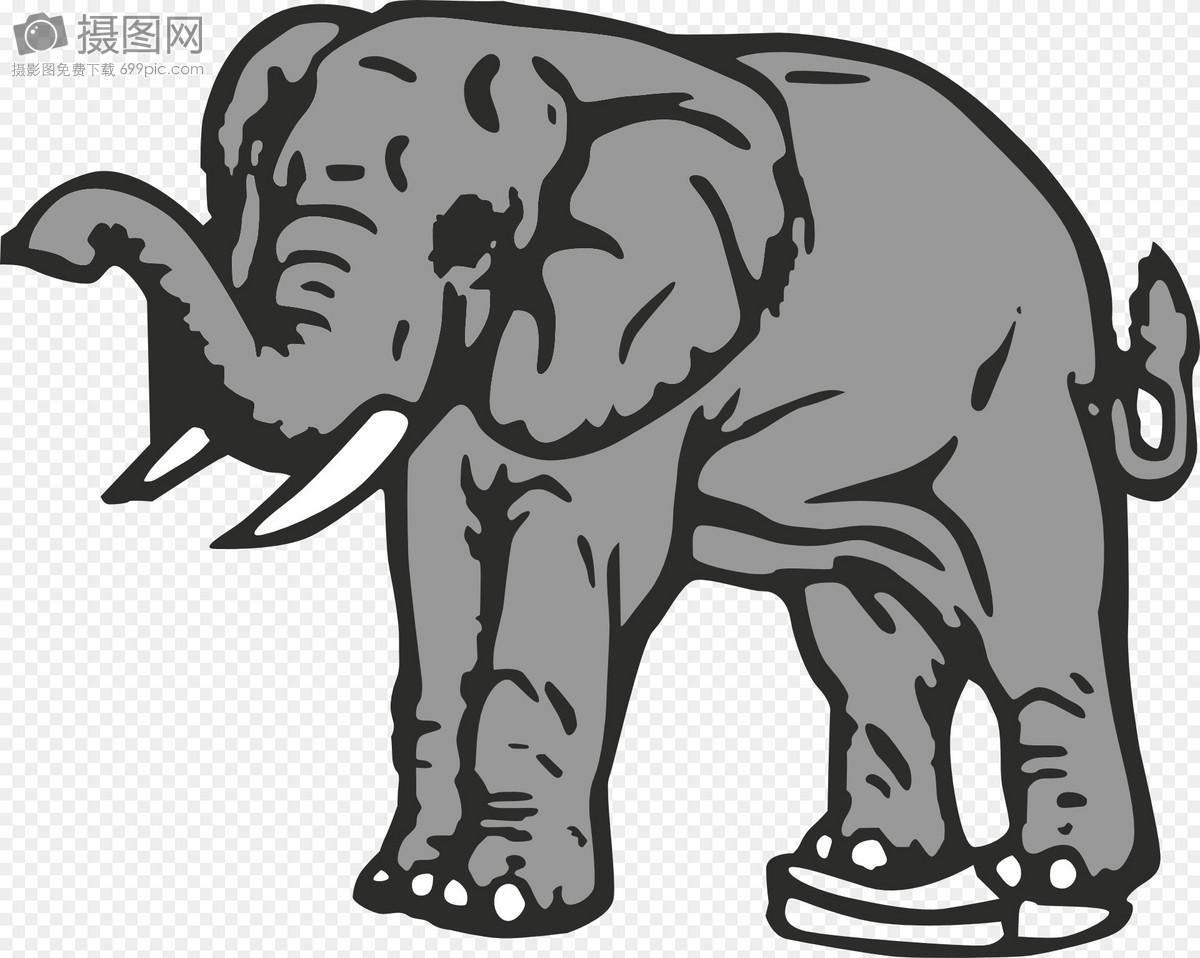 Gajah Kelabu Kartun Gambar Unduh Gratisimej 400014360format Svgmy